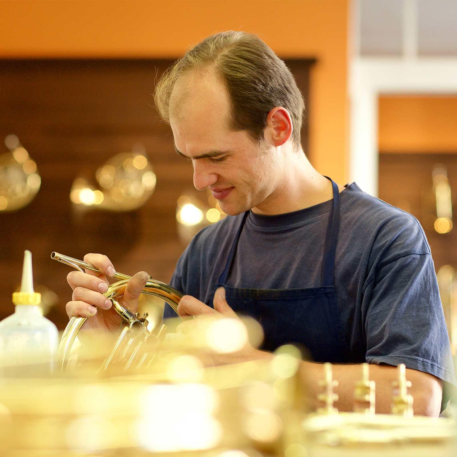 Brass instruments workshop Vogt instruments Leipzig