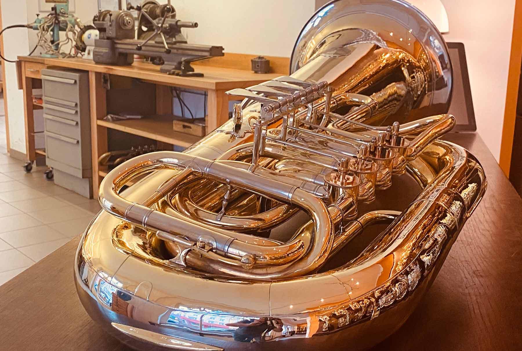 Tuba Umbau Restauration und Reparatur Vogt instruments